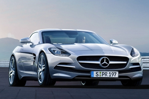 this model will fit in between the sl and sls sports cars the company though isnt sure if they will continue with development but a source provides the